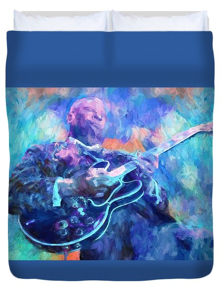 Bb King Duvet Cover by Dan Sproul