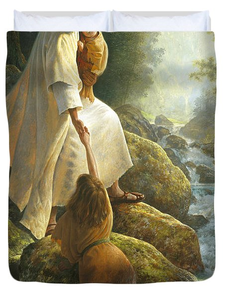 Be Not Afraid Duvet Cover by Greg Olsen