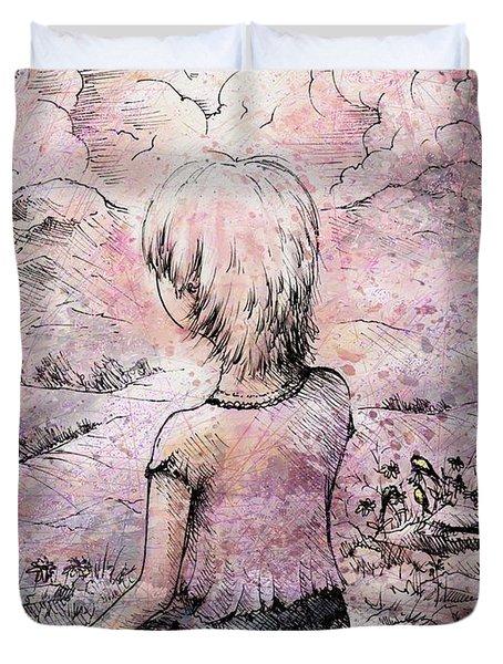 Be Still Duvet Cover by Rachel Christine Nowicki