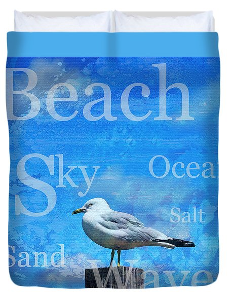 Beach Art Seagull By Sharon Cummings Duvet Cover by Sharon Cummings