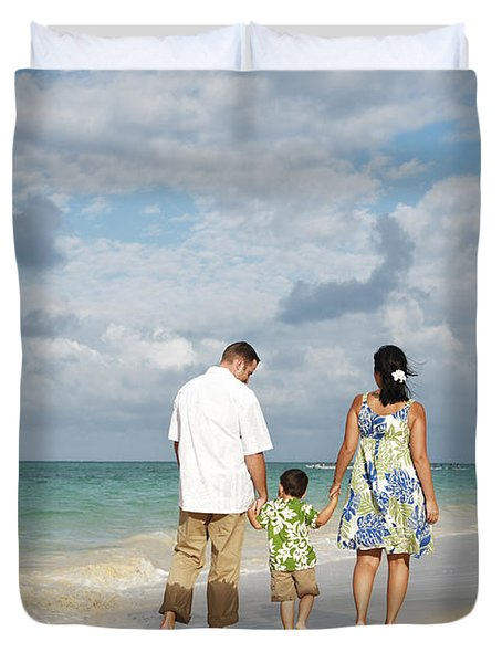Beach Family Duvet Cover by Brandon Tabiolo - Printscapes
