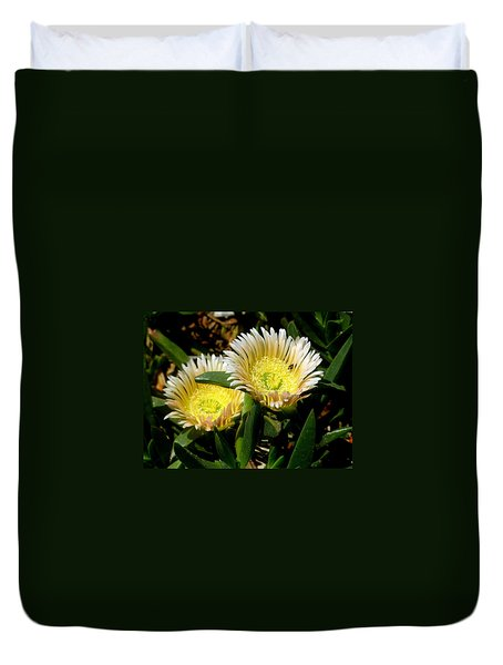 Beach Flower Duvet Cover by Joyce Woodhouse