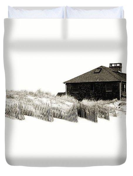 Beach House - Jersey Shore Duvet Cover by Angie Tirado