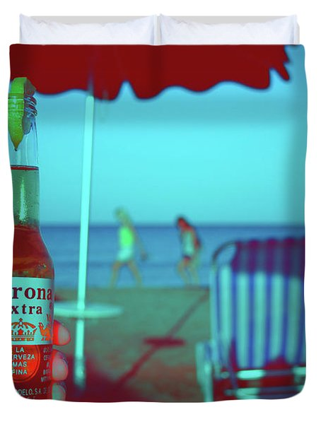 Beach Time Duvet Cover by La Dolce Vita