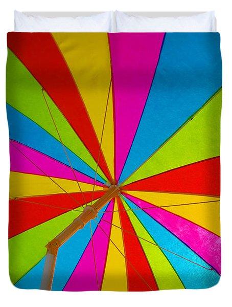 Beach Umbrella Duvet Cover by David Lee Thompson