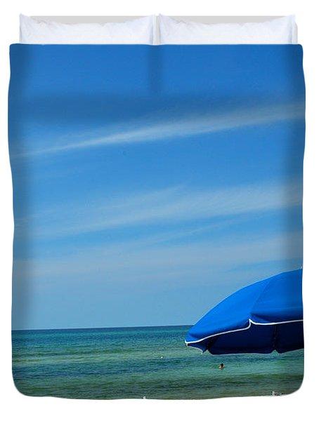 Beach Umbrella Duvet Cover by Susanne Van Hulst