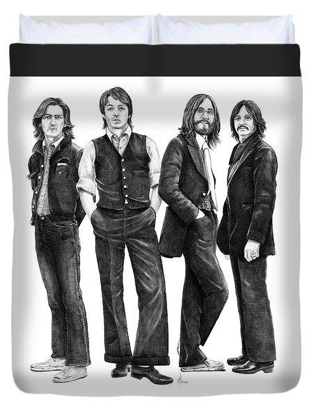 Beatles Drawing Duvet Cover by Murphy Elliott