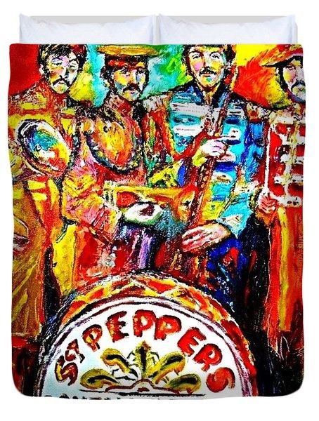 Beatles Sgt. Pepper Duvet Cover by Leland Castro