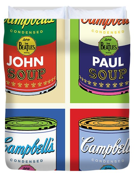 Beatles Soup Duvet Cover by Gary Grayson