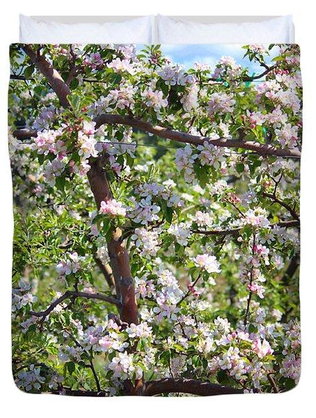 Beautiful Blossoms - Digital Art Duvet Cover by Carol Groenen