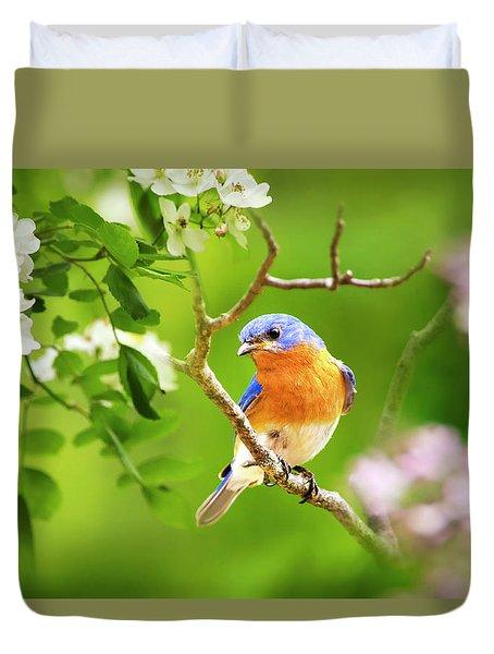 Beautiful Bluebird Duvet Cover by Christina Rollo