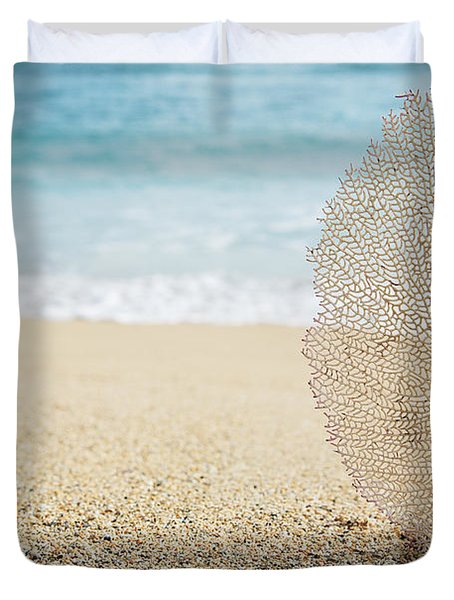 Beautiful Coral Element 1 Duvet Cover by Brandon Tabiolo - Printscapes