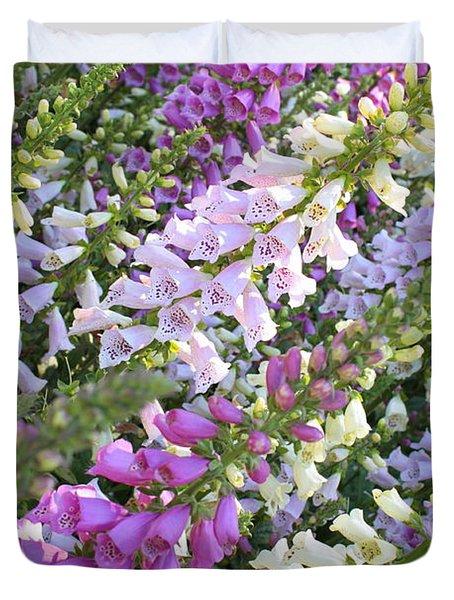 Beautiful Foxglove Duvet Cover by Carol Groenen