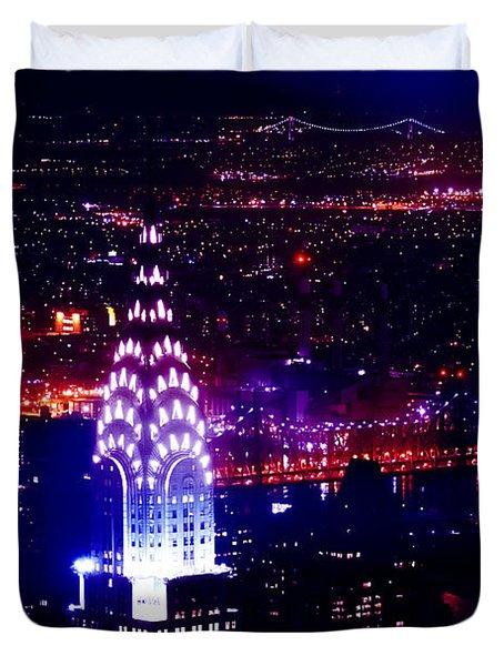 Beautiful Manhattan Skyline Duvet Cover by Az Jackson