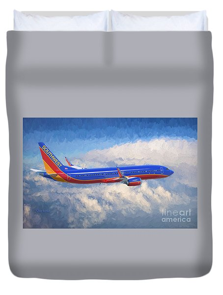 Beauty In Flight Duvet Cover by Garland Johnson