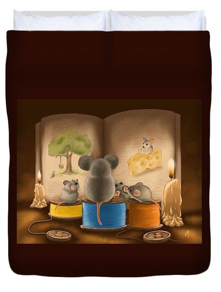 Bedtime Story Duvet Cover by Veronica Minozzi
