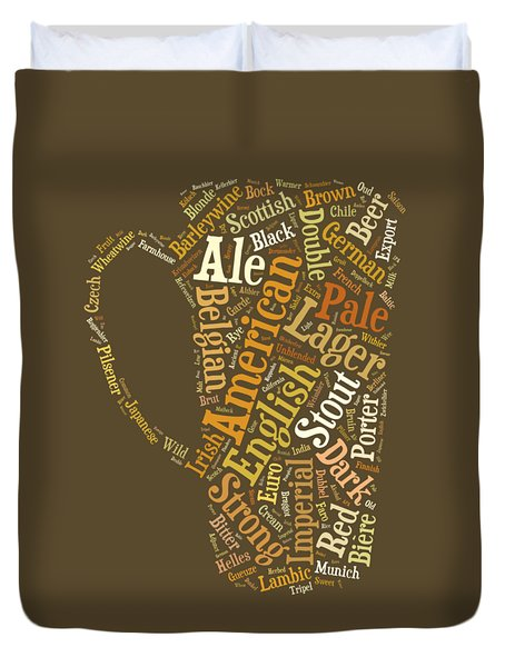 Beer Lovers Tee Duvet Cover by Edward Fielding