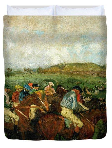 Before The Departure Duvet Cover by Edgar Degas