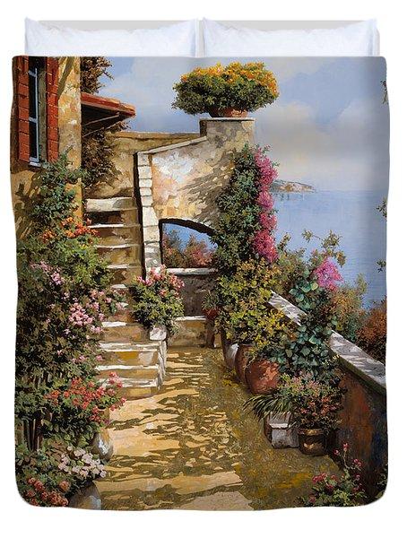 bello terrazzo Duvet Cover by Guido Borelli