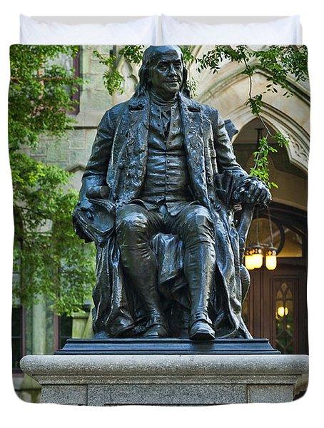 Ben Franklin at the University of Pennsylvania Duvet Cover by John Greim