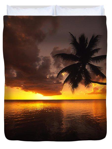 Bending Palm Duvet Cover by Ron Dahlquist - Printscapes