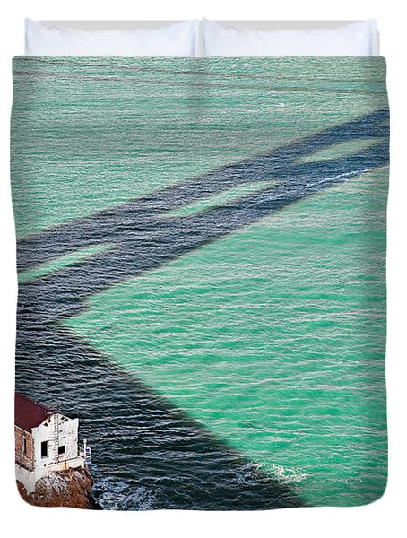 Beneath The Golden Gate Duvet Cover by Dave Bowman