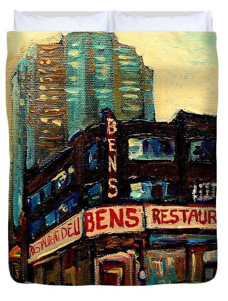 Bens Restaurant Deli Duvet Cover by Carole Spandau