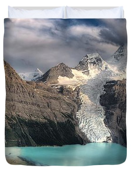 Berg Lake, Mount Robson Provincial Park Duvet Cover by Clarke Wiebe