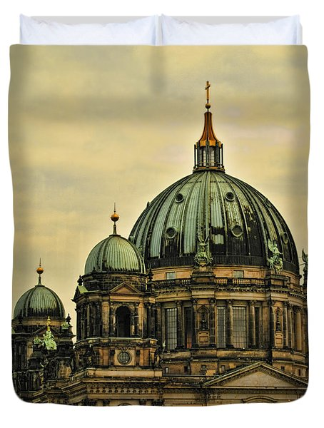 Berlin Architecture Duvet Cover by Jon Berghoff