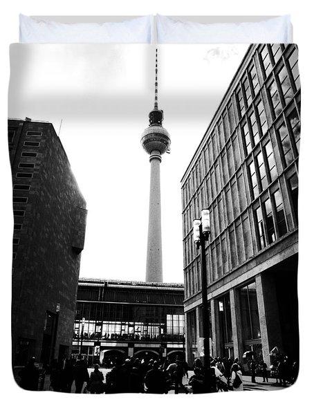 Berlin Street Photography Duvet Cover by Falko Follert
