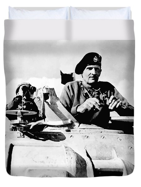 Bernard Law Montgomery Duvet Cover by War Is Hell Store