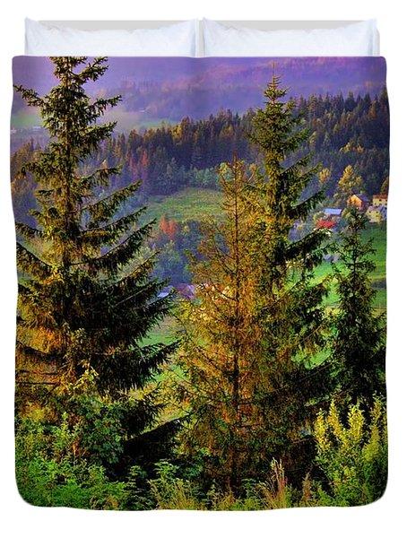 Beskidy Mountains Duvet Cover by Mariola Bitner
