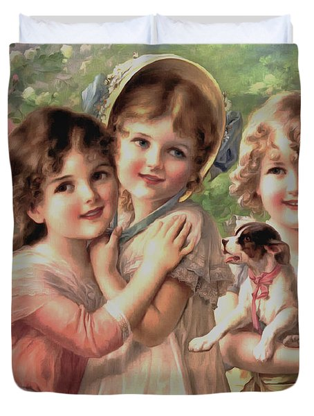 Best Of Friends Duvet Cover by Emile Vernon