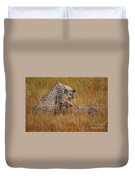 Best Of Friends Duvet Cover by Nichola Denny