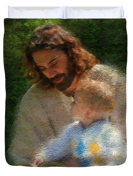 Bible Stories Duvet Cover by Greg Olsen
