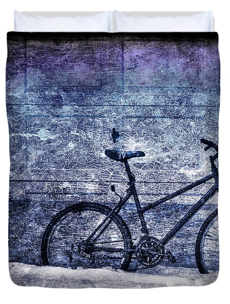 Bicycle Duvet Cover by Evelina Kremsdorf