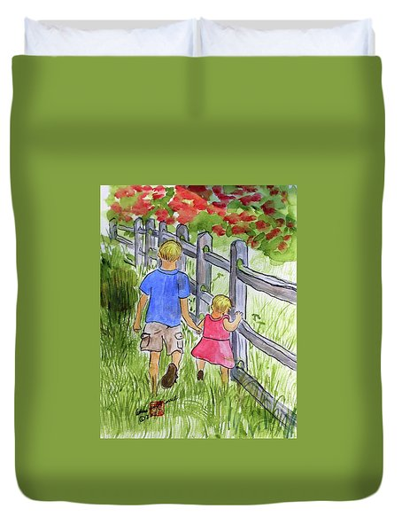 Big Brother Duvet Cover by Arlene  Wright-Correll