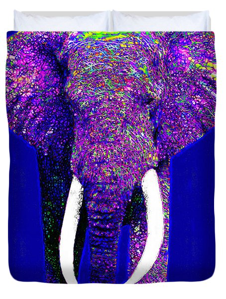 Big Elephant 20130201m118 Duvet Cover by Wingsdomain Art and Photography