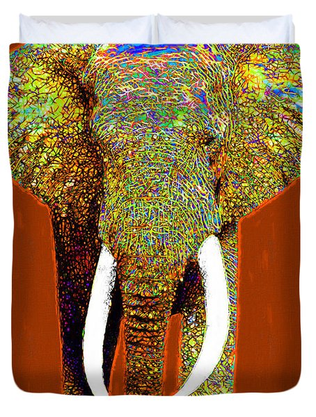 Big Elephant 20130201p20 Duvet Cover by Wingsdomain Art and Photography
