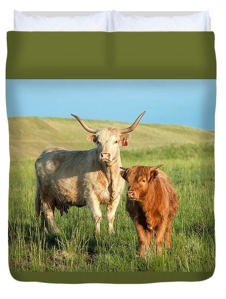 Big Horn, Little Horn Duvet Cover by Todd Klassy
