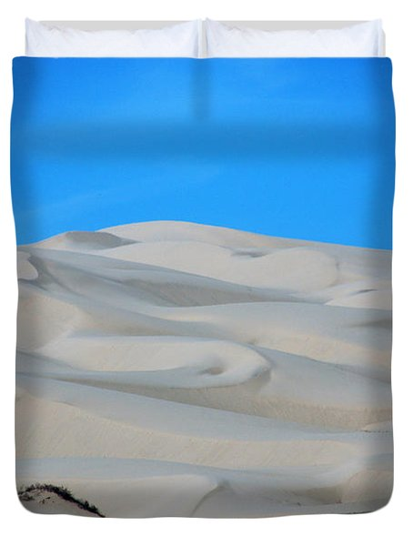 Big Sand Dunes In Ca Duvet Cover by Susanne Van Hulst