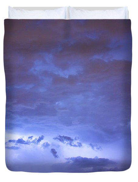 Big sky with small lightning strikes in the distance Duvet Cover by James BO  Insogna