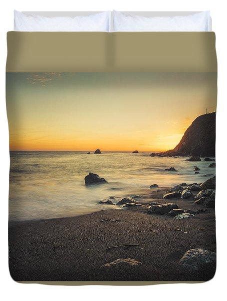 Big Sur Beach Duvet Cover by Lynn Andrews