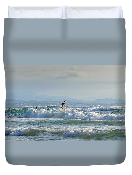 Duvet Cover featuring the photograph Big Surf Invitational I by Thierry Bouriat