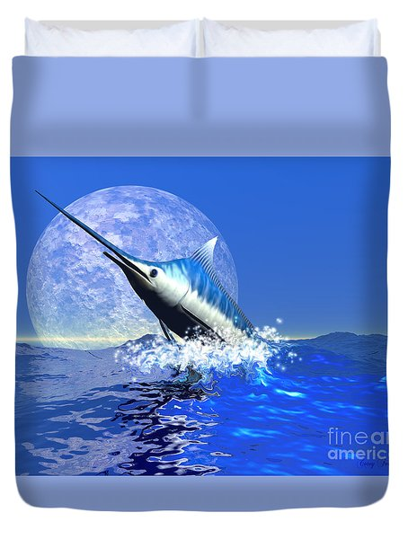 Billfish  Duvet Cover by Corey Ford