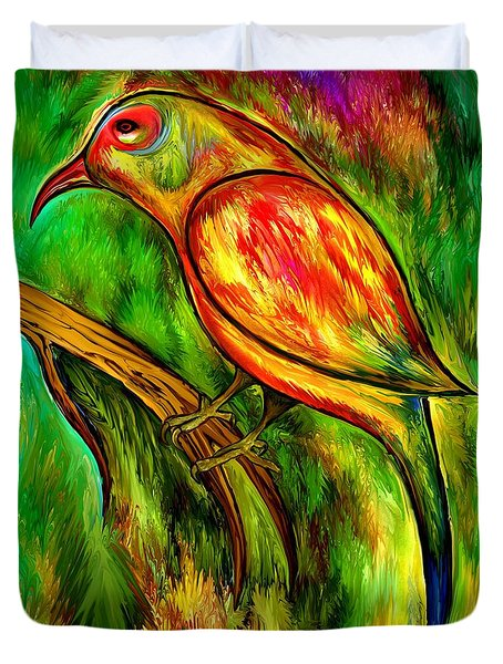 Bird On A Branch Duvet Cover by Rafi Talby