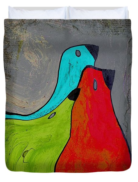 Birdies - V110b Duvet Cover by Variance Collections