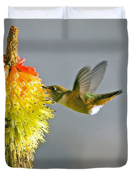 Birds and Bees Duvet Cover by Mike  Dawson