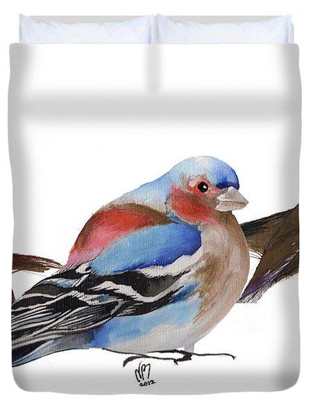 Birds Of A Feather Duvet Cover by Nancy Moniz