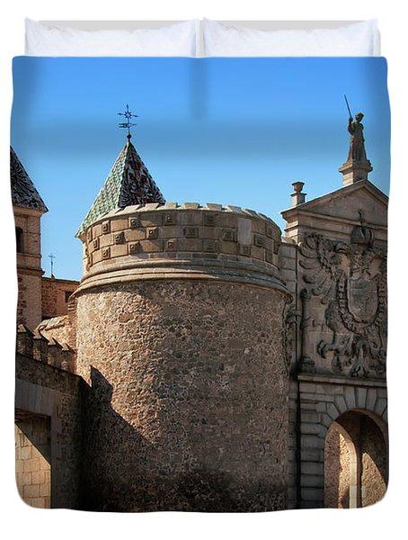 Bisagra Gate Toledo Spain Duvet Cover by Joan Carroll